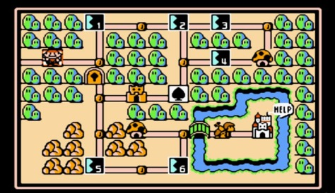 The revolutionary overhead map of Mario 3, which inspired the likes of the modern Shovel Knight