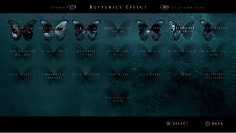 The Butterfly Effect, showcasing all the different outcomes and variations that are possible through your choices