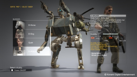 The Phantom Pain's buddy system is exceptionally well-developed as each buddy systemically fit for different situations.